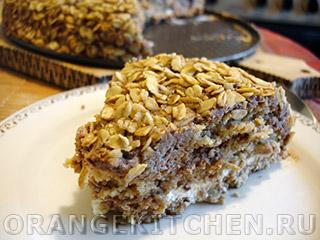 Вегетарианские рецепты с фото: овсяный торт без выпечки