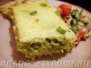 Вегетарианские рецепты с фото: запеканка из кус-куса с брокколи