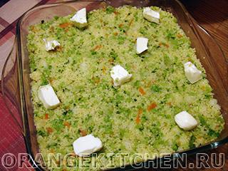Вегетарианская запеканка из кус-куса с брокколи: Фото 6