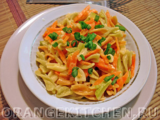Вегетарианские рецепты с фото: морковное рагу с макаронами