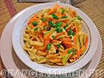 Вегетарианский рецепт морковного рагу с макаронами