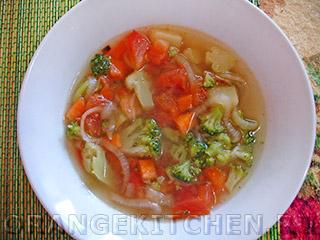 Вегетарианские рецепты с фото: постный суп с брокколи