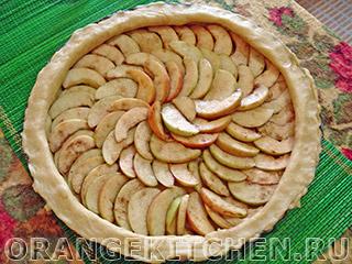 Вегетарианский открытый яблочный пирог без яиц: Фото 9