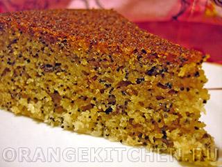 Вегетарианские рецепты с фото: кукурузный кекс без яиц с маком