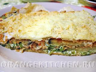 Вегетарианские рецепты с фото: простая лазанья из лаваша
