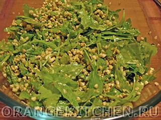 Салат с зеленой гречкой и рукколой: Фото 8