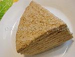 Вегетарианский рецепт сметанного торта на сковороде