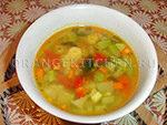 Вегетарианский рецепт супа на овощном бульоне