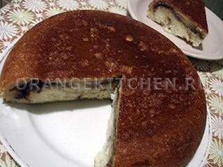 Вегетарианский коричный кекс без яиц