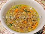 Вегетарианский рецепт постного супа с нутом