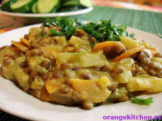 Чечевица с картофелем