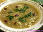 Вегетарианский рецепт супа с чечевицей и лапшой