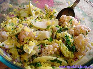 Боул из цветной капустой с куркумой, рисом и овощами, пошаговый рецепт с фото