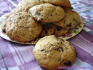 Имбирное печенье без яиц с шоколадом