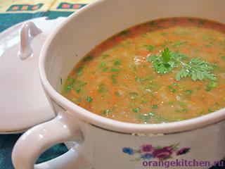 Вегетарианский картофельный суп с овсяными хлопьями