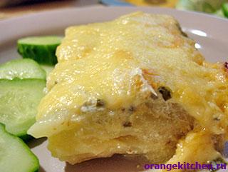 Вегетарианская запеканка из кабачков и картофеля