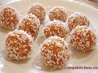 Вегетарианские сладкие морковные шарики