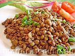 Вегетарианский рецепт блюда из чечевицы с чесноком