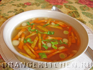 Овощной постный суп с кукурузой