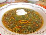 Вегетарианский рецепт зеленых щей с крапивой
