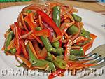 Вегетарианский рецепт салата из стручковой фасоли
