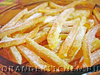 Цукаты из апельсиновых корок по-быстрому