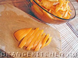 Апельсиновые цукаты в шоколаде, поднимающие настроение, пошаговый рецепт с фото