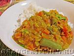 Вегетарианский рецепт овощного рагу из тыквы с горохом