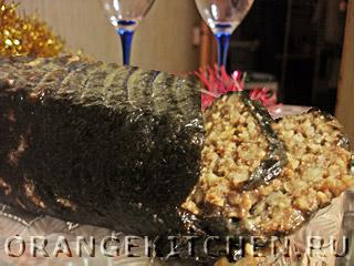 Новогодняя вегетарианская запеканка из чечевицы