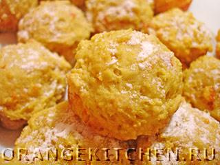 Постное апельсиновое печенье без яиц