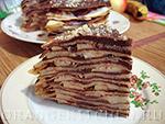Вегетарианский рецепт блинного шоколадного торта