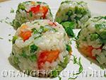 Вегетарианский рецепт рисового салата с овощами