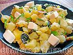 Вегетарианский рецепт картофеля с кабачками и маслинами