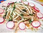 Вегетарианский рецепт макарон со шпинатом