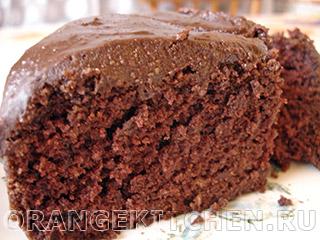 Шоколадный кекс с шоколадным кремом