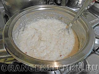 Каша манная с консервированными персиками - рецепт пошаговый с фото