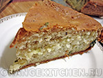 Вегетарианский рецепт пирога с рисом