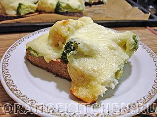 Бутерброды с брокколи или ленивая пицца