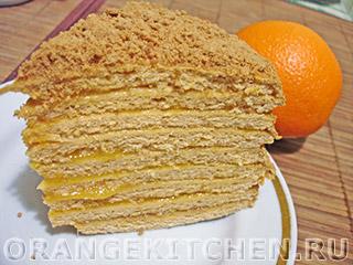 Постный торт с апельсиново-тыквенным кремом