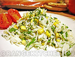 Вегетарианский рецепт салата с кукурузой