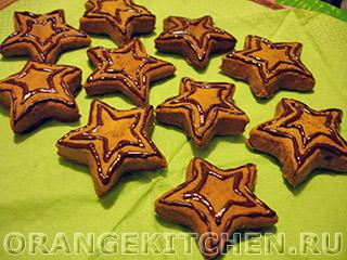Постное рождественское печенье на соке