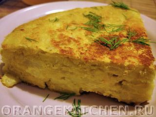 Испанский картофельный омлет без яиц (Tortilla)