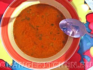 Немецкий манный суп с морковью