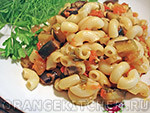 Вегетарианский рецепт макарон с баклажанами