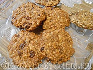 Овсяное печенье без масла и без сахара