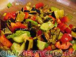 Вегетарианский рецепт салата из баклажанов