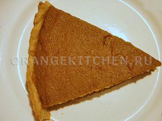 Постный тыквенный пирог на кокосовом масле