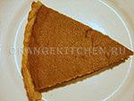Вегетарианский рецепт постного тыквенного пирога на кокосовом масле