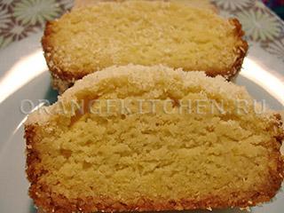 Вегетарианский лимонный кекс с кокосом