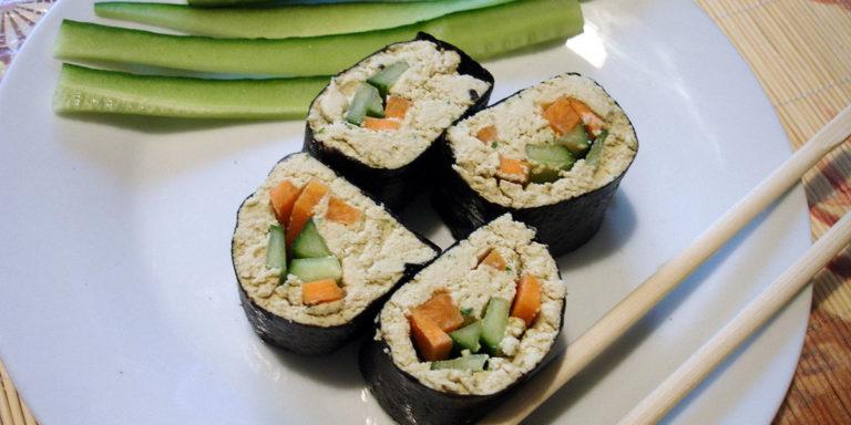 Вегетарианские роллы с тофу